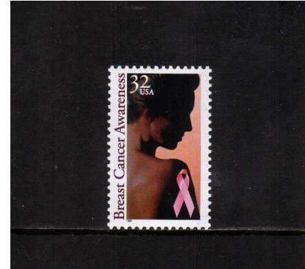 view larger image for  : SG Number 3216 / Scott Number 3081 (1996) - Breast Cancer Awareness