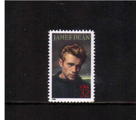 view larger image for  : SG Number 3217 / Scott Number 3082 (1996) - Legends of Hollywood - James Dean