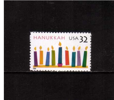 view larger image for  : SG Number 3265 / Scott Number 3118 (1996) - Hanukkah <br/>Die cut continuously<br/><br/>