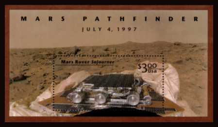 view larger image for  : SG Number MS3373 / Scott Number 3178 (1997) - Mars Pathfinder Minisheet