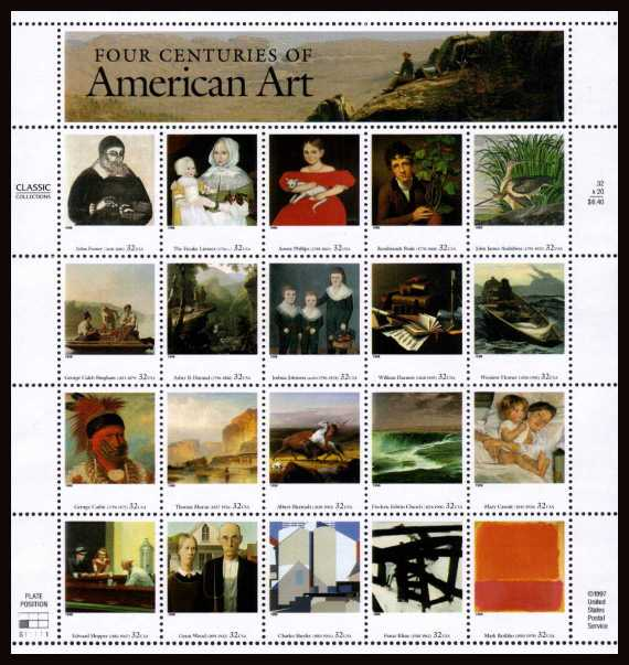 view larger image for  : SG Number 3476a / Scott Number 3236 (1998) - American Art <br/>