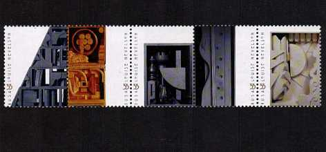 view larger image for  : SG Number 3753a / Scott Number 3383a (2000) - Louise Nevelson <br/> Horizontal strip of 5
