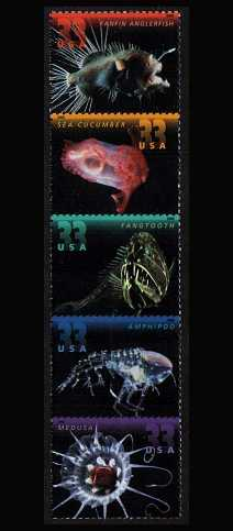view larger image for  : SG Number 3876a / Scott Number 3443a (2000) - Deep Sea Creatures<br/>