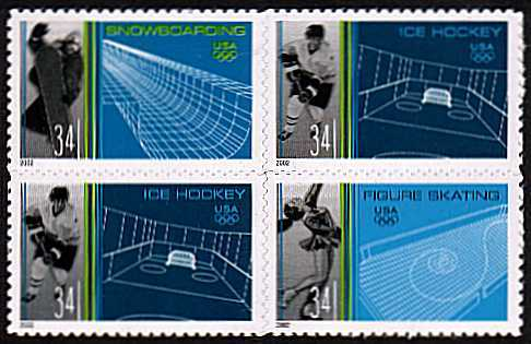 view larger image for  : SG Number 4030a / Scott Number 3555a (2002) - Winter Olympics <br/>Block of four