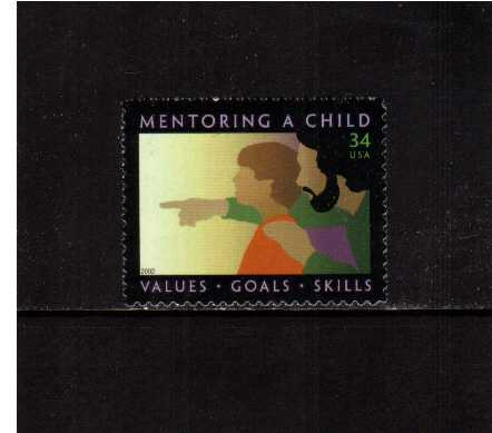 view larger image for  : SG Number 4034 / Scott Number 3556 (2002) - ' Mentoring a Child' 
