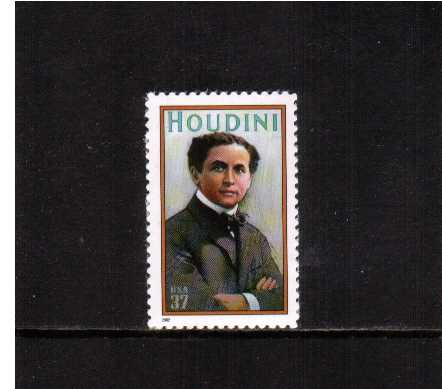 view larger image for  : SG Number 4153 / Scott Number 3651 (2002) - Harry Houdini - Magician
