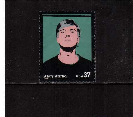 view larger image for  : SG Number 4165 / Scott Number 3652 (2002) - Andy Warhol - Artist