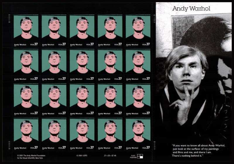view larger image for  : SG Number 4165v / Scott Number 3652v (2002) - Andy Warhol<br/>