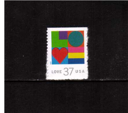 view larger image for  : SG Number 4170 / Scott Number 3657 (2002) - ' Love'  <br/>booklet single