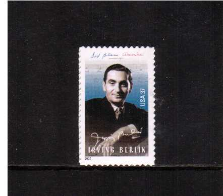 view larger image for  : SG Number 4182 / Scott Number 3669 (2002) - Irving Berlin - Composer