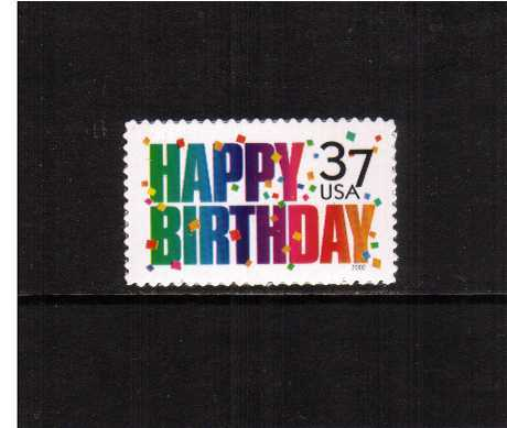view larger image for  : SG Number 4195 / Scott Number 3695 (2002) - 'Happy Birthday'<br/><br/>
