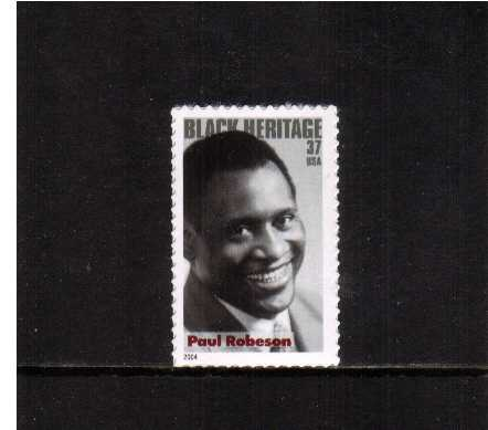 view larger image for  : SG Number 4342 / Scott Number 3834 (2004) - Black Heritage Series - Paul Robeson<br/>