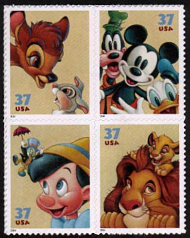 view larger image for  : SG Number 4370a / Scott Number 3868a (2004) - Art of Disney - Friendship<br/>
