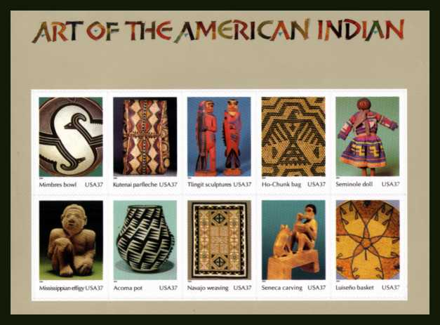 view larger image for  : SG Number MS4378 / Scott Number 3873 (2004) - American Indian Art<br/>
