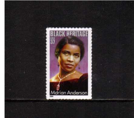 view larger image for  : SG Number 4413 / Scott Number 3896 (2005) - Black Heritage Series - Marian Anderson<br/>