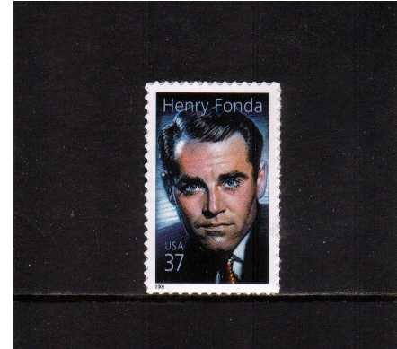 view larger image for  : SG Number 4439 / Scott Number 3911 (2005) - Legends of Hollywood - Henry Fonda<br/>