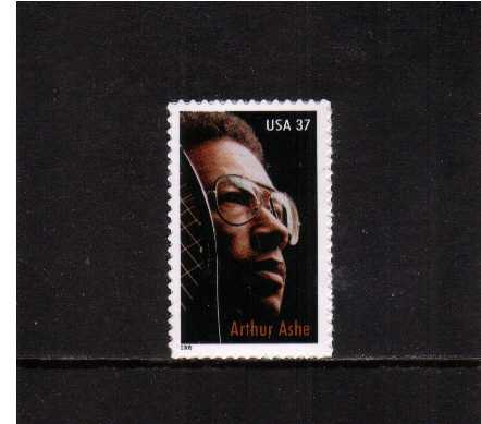 view larger image for  : SG Number 4474 / Scott Number 3936 (2005) - Arthur Ashe - The Tennis Legend<br/>