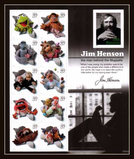 view larger image for  : SG Number MS4482 / Scott Number 3944 (2005) - Jim Henson and the Muppets sheet