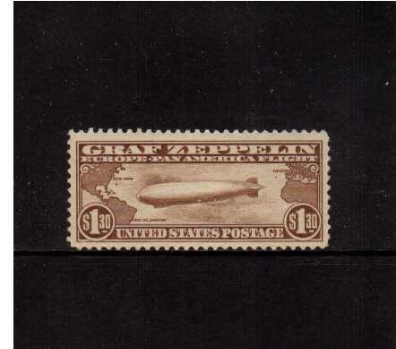 view larger image for Airmails Airmails: SG Number A688 / Scott Number $1.30 (1930) - Graf Zeppelin