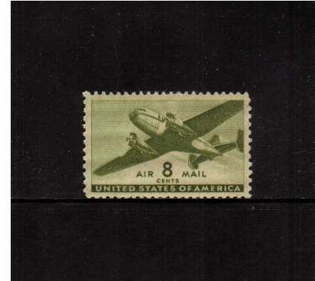 view larger image for Airmails Airmails: SG Number A902 / Scott Number 8c (1944) - Mail Plane     Olive Green
