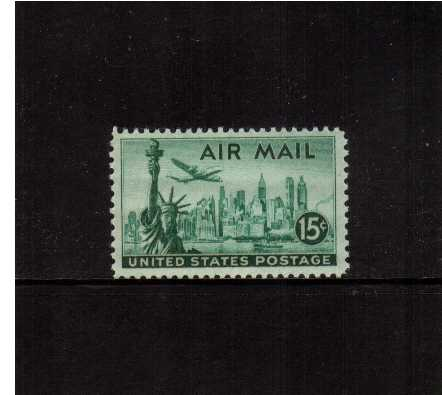 view larger image for Airmails Airmails: SG Number A949a / Scott Number 15c (1947) - New York Skyline   - 