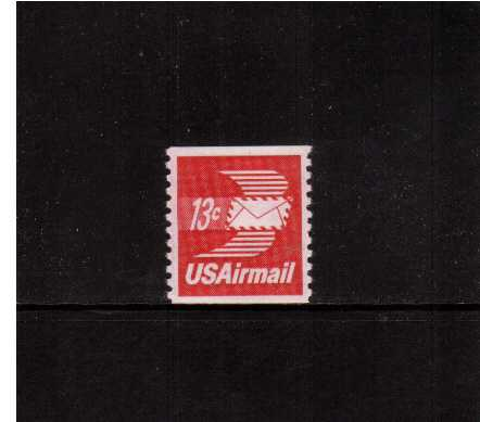 view larger image for Airmails Airmails: SG Number A1426 / Scott Number 13c (1973) - Winged Envelope Coil