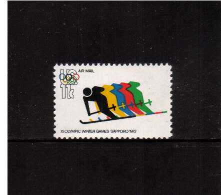 view larger image for Airmails Airmails: SG Number A1467 / Scott Number 11c (1972) - Olympic Games - Skiing