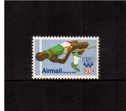 view larger image for Airmails Airmails: SG Number A1769 / Scott Number 31c (1979) - Olympics - High Jump
