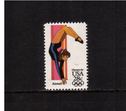 view larger image for Airmails Airmails: SG Number A2034 / Scott Number 28c (1983) - Olympics - Women's Gymnastics