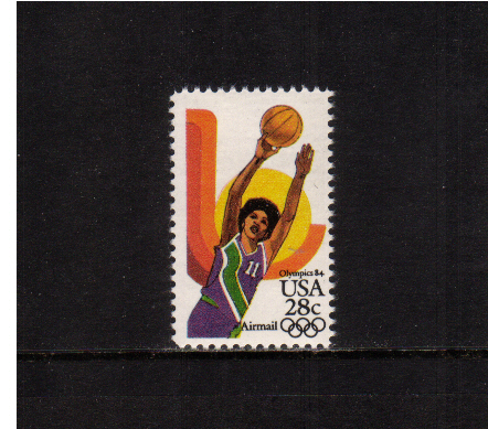 view larger image for Airmails Airmails: SG Number A2036 / Scott Number 28c (1983) - Olympics - Women's Basketball