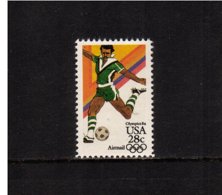 view larger image for Airmails Airmails: SG Number A2037 / Scott Number 28c (1983) - Olympics - Soccer