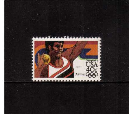 view larger image for Airmails Airmails: SG Number A2022 / Scott Number 40c (1983) - Olympics - Shot Put
