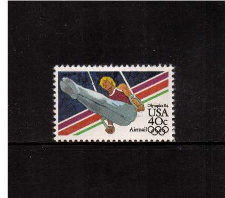 view larger image for Airmails Airmails: SG Number A2023 / Scott Number 40c (1983) - Olympics - Men's Gymnastics