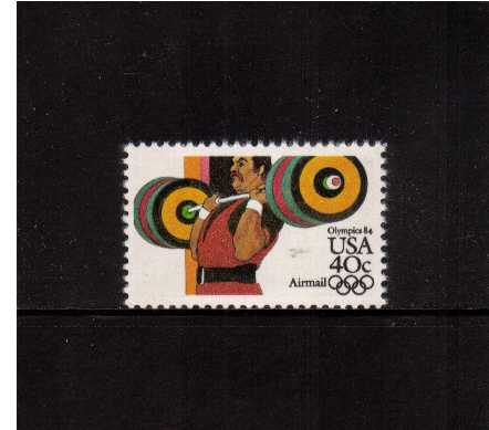 view larger image for Airmails Airmails: SG Number A2025 / Scott Number 40c (1983) - Olympics - Weights