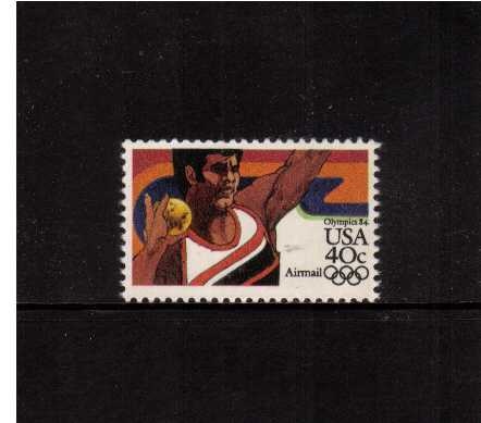 view larger image for Airmails Airmails: SG Number A2022a / Scott Number 40c (1983) - Olympics  - Shot Put
