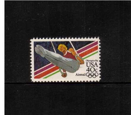 view larger image for Airmails Airmails: SG Number A2023a / Scott Number 40c (1983) - Olympics - Men Gymastics
