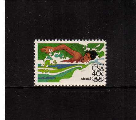 view larger image for Airmails Airmails: SG Number A2024a / Scott Number 40c (1983) - Olympics - Swimming