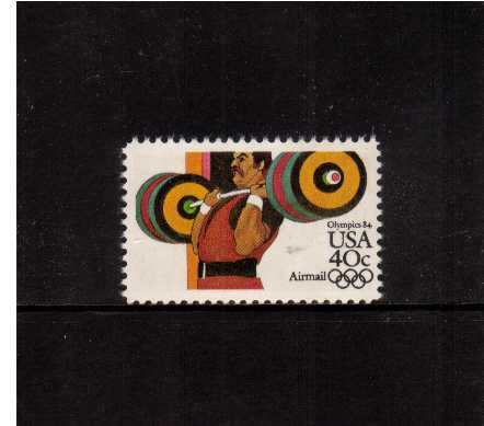 view larger image for Airmails Airmails: SG Number A2025a / Scott Number 40c (1983) - Olympics - Weights