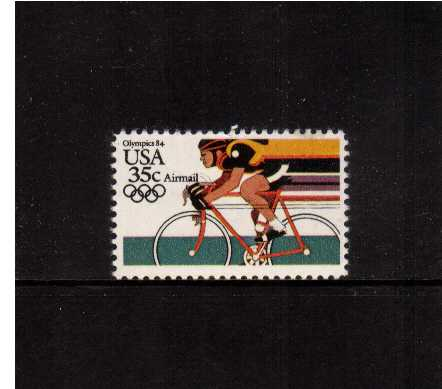 view larger image for Airmails Airmails: SG Number A2059 / Scott Number 35c (1983) - Olympics - Cycling