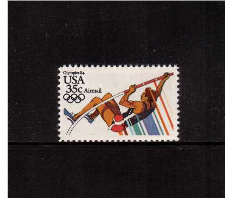 view larger image for Airmails Airmails: SG Number A2061 / Scott Number 35c (1983) - Olympics - Pole Vaulting