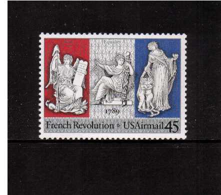 view larger image for Airmails Airmails: SG Number A2401 / Scott Number 45c (1989) - French Revolution