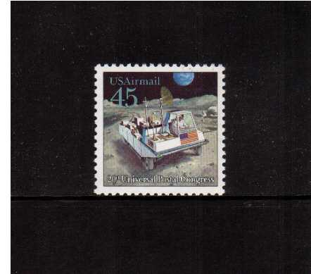 view larger image for Airmails Airmails: SG Number A2425 / Scott Number 45c (1989) - Futuristic Space - Moon Rover