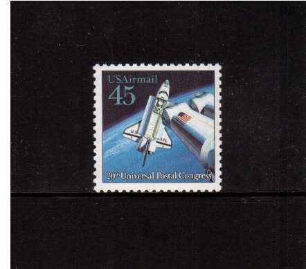 view larger image for Airmails Airmails: SG Number A2426 / Scott Number 45c (1989) - Futuristic Space - Space Shuttle