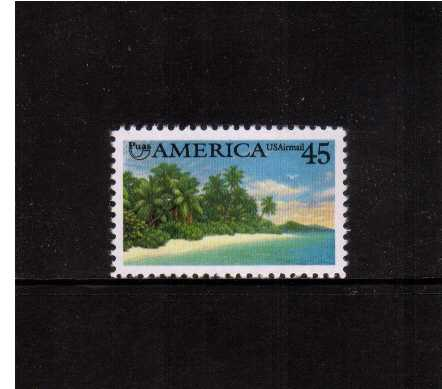 view larger image for Airmails Airmails: SG Number A2547 / Scott Number 45c (1990) - American Caribbean Coast