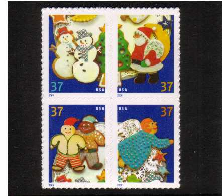 view larger image for  : SG Number 4487a / Scott Number 3952a (2005) - Christmas - Cookies<br/>