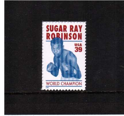 view larger image for Commemoratives 2006 - 2007 - Later Period Commemoratives: SG Number 4562 / Scott Number 39c - 7 April 2006 (2006) - Sugar Ray Robinson - Boxer