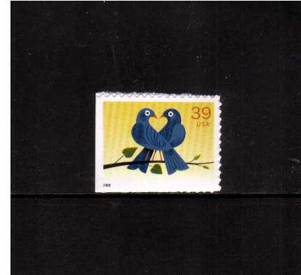 view larger image for Commemoratives 2006 - 2007 - Later Period Commemoratives: SG Number 4571 / Scott Number 39c - 1 May 2006 (2006) - LOVE - Lovebirds<br/>