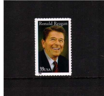view larger image for Commemoratives 2006 - 2007 - Later Period Commemoratives: SG Number 4620 / Scott Number 39c - 14 June 2006 (2006) - Ronald Reagan<br/>