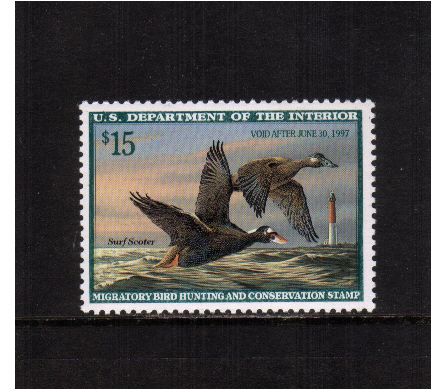 view larger image for Federal Ducks Federal Ducks: SG Number - / Scott Number $15 (1996) - Migratory Bird Hunting and Conservation Stamp<br/>