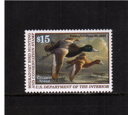 view larger image for Federal Ducks Federal Ducks: SG Number - / Scott Number $15 (1999) - Migratory Bird Hunting and Conservation Stamp<br/>